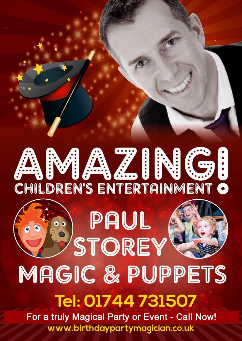 Magician, children's magician, children's entertainer, magic, puppets